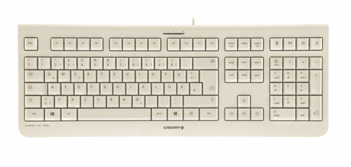 Cherry KC 1000 QWERTY English Layout Keyboard Grey Up to 10 Million Keystrokes 4 Hotkeys Plug and Play via a USB Connection