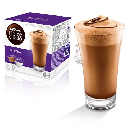 Nescafe Dolce Gusto Mocha Capsules 12184860 Packed 48 (3 x 16 = 24 Drinks)