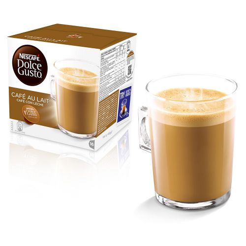 Nescafe Dolce Gusto Cafe Au Lait Capsules 12235939 Packed 48 (3x16 Capsules = 48 Drinks)