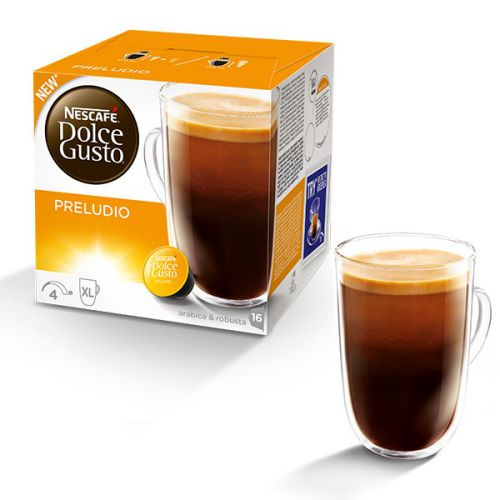 Nescafe Dolce Gusto Preludio Capsules 12320192 Packed 48 (3 x 16 capsules = 48 drinks)