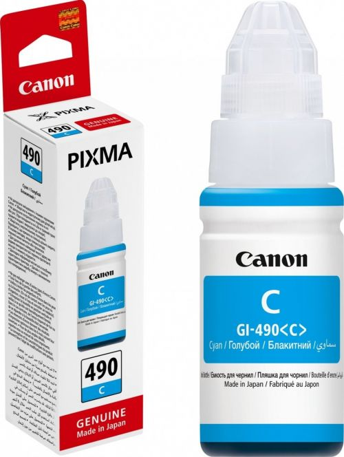 Canon 0664C001 GI490C Cyan ink Bottle