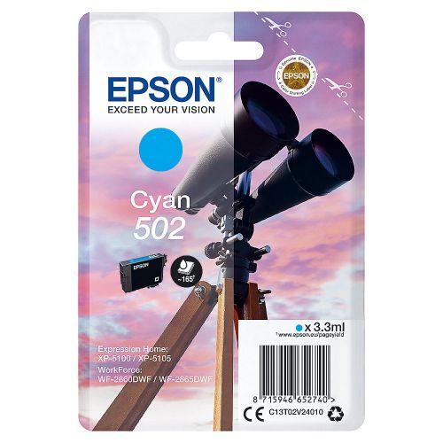 Epson C13T02V24010 502 Cyan Ink 3ml
