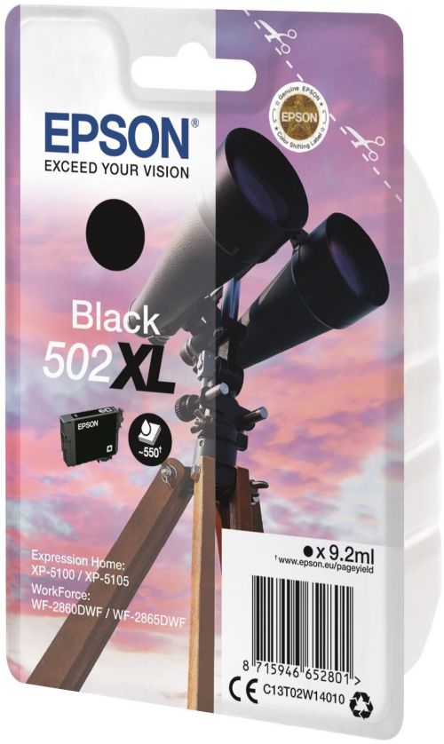 Epson C13T02W14010 502XL Black Ink 9ml