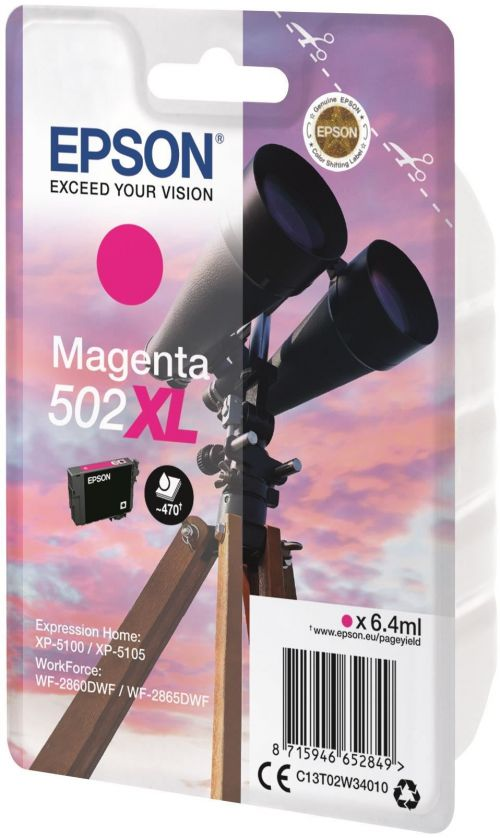 Epson C13T02W34010 502XL Magenta Ink 6ml