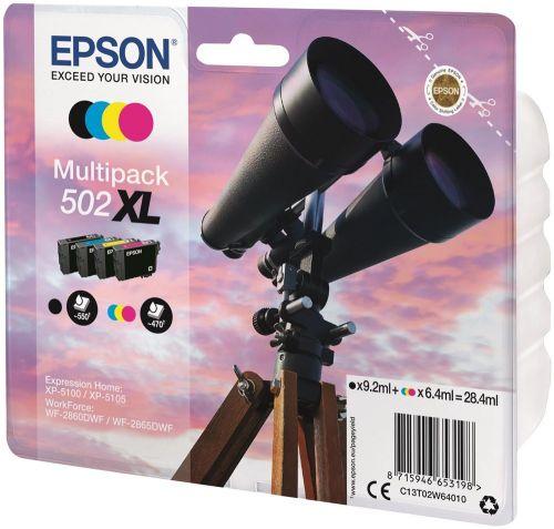 Epson C13T02W64010 502XL Black Colour Ink 28ml Multipack