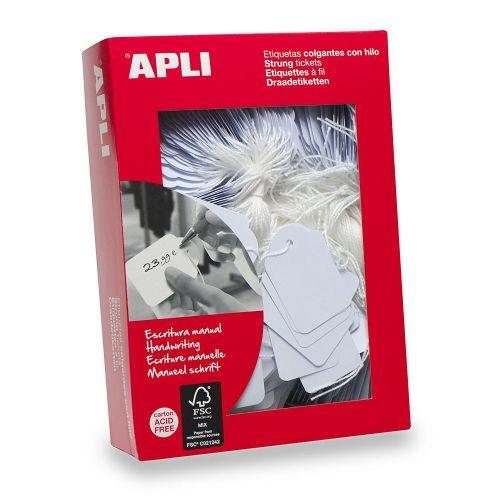 Apli Strung Tags 36x53mm Hang Pk100