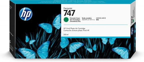 HP 747 Chromatic Green Standard Capacity Ink Cartridge 300ml - P2V84A