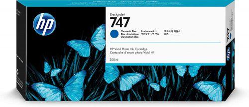 HP P2V85A 747 Chromatic Blue Ink 300ml