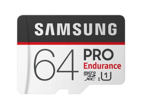 Samsung Pro Endurance 64GB Class 10 UHSI Memory Card MicroSDXC Plus Adapter