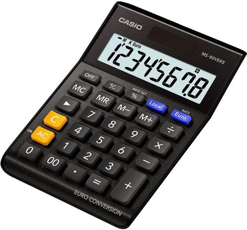 Casio MS-80B 8 Digit Desk Calculator