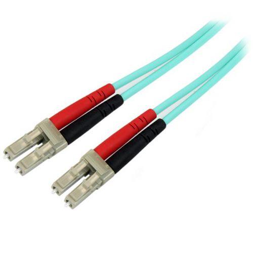 StarTech 5m Aqua MM 50 125 OM4 Fiber Optic Cable