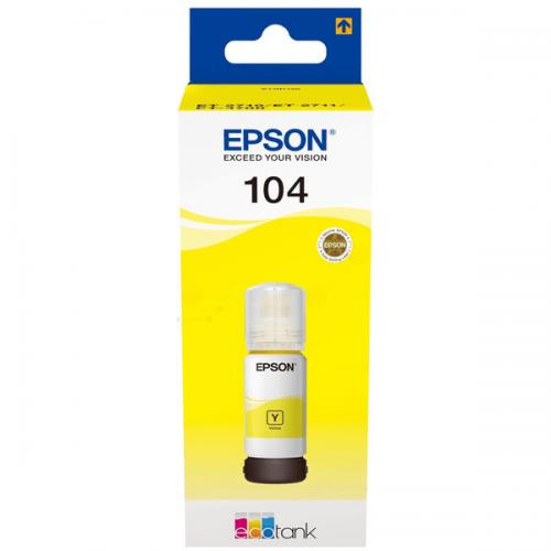 Epson C13T00P440 104 Yellow Ink 70ml