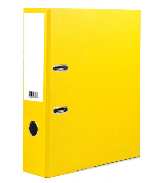 Value Lever Arch File A4 Yellow