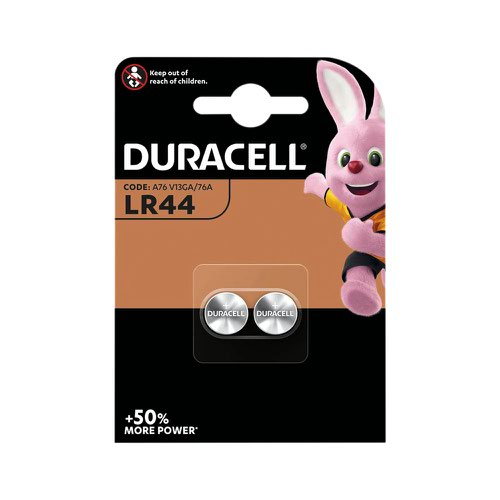 Duracell Button Cell Battery 1.5V LR44 [Pack 2]