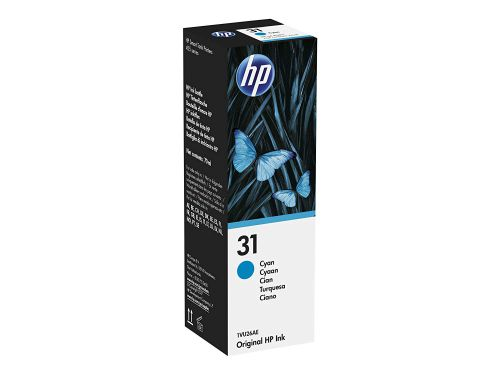 HP 1VU26AE 31 Cyan Ink Bottle 8K