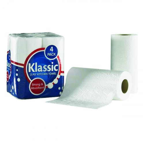 ValueX Kitchen Towel 2 Ply White (Pack 24)