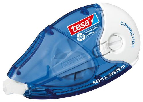 tesa Correction Roller ecoLogo Environmentally Friendly Recycled Packaging 4.2mm x 14m 59840