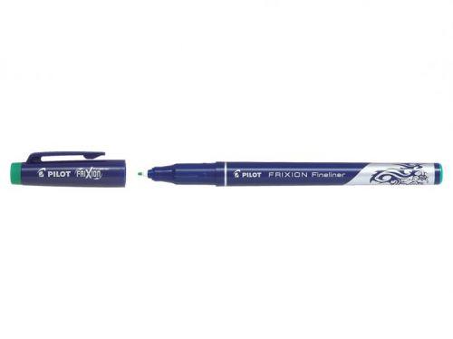 Pilot FriXion Erasable Fineliner Pen 1.3mm Tip 0.45mm Line Green (Pack 12)