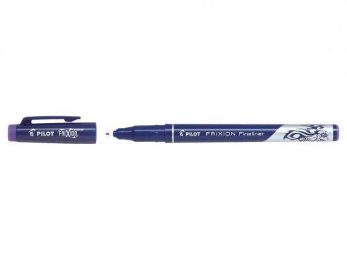 Pilot FriXion Erasable Fineliner Pen 1.3mm Tip 0.45mm Line Violet (Pack 12)