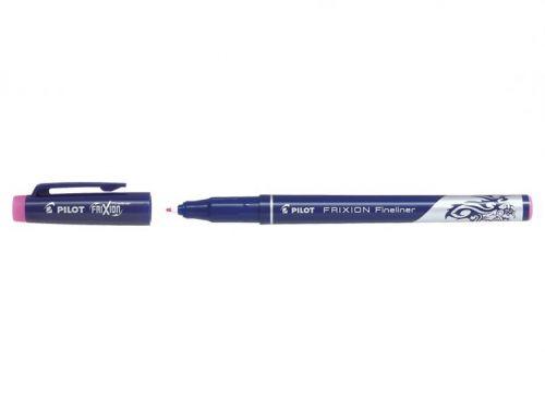 Pilot FriXion Erasable Fineliner Pen 1.3mm Tip 0.45mm Line Pink (Pack 12)