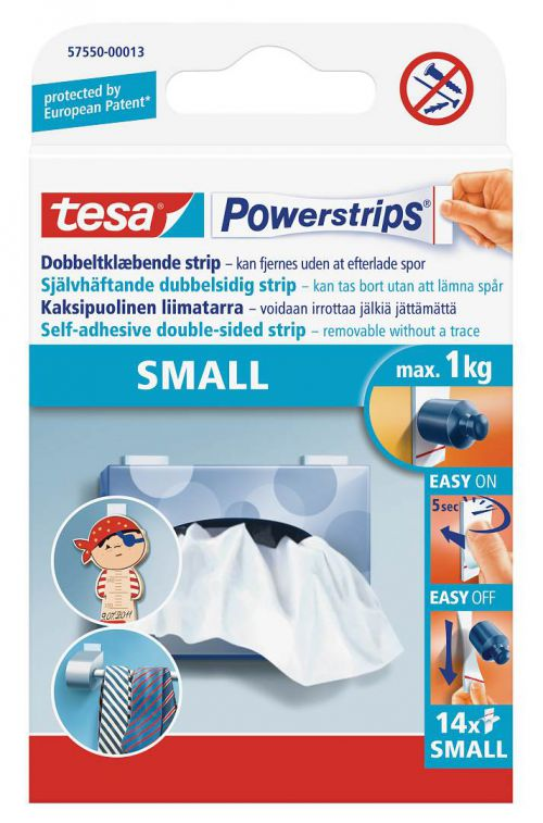 tesa Powerstrips Small 14 strips PK1