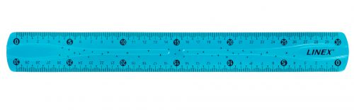 Linex Flexible School Ruler 30cm Blue
