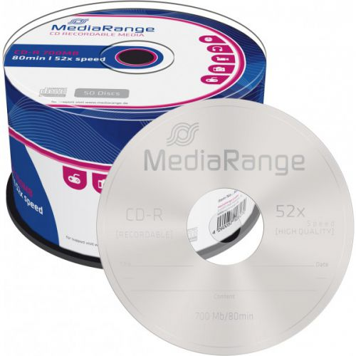 MediaRange CD (700Mb) 52x Speed Cake Pack of 50