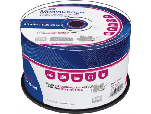MediaRange (700MB) CD-R 80min 52x Speed Printable Cake Pack of 50