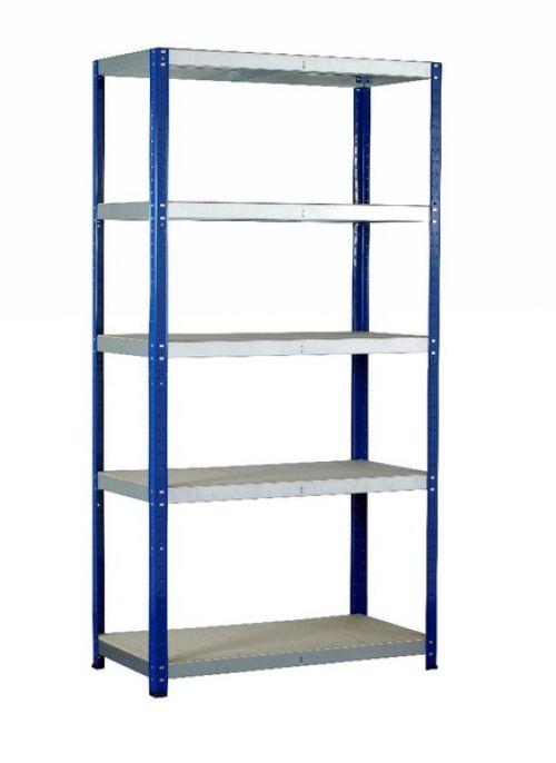 Eco-Rax H1800xW1200xD450mm c/w 5 Chipboard Shelves