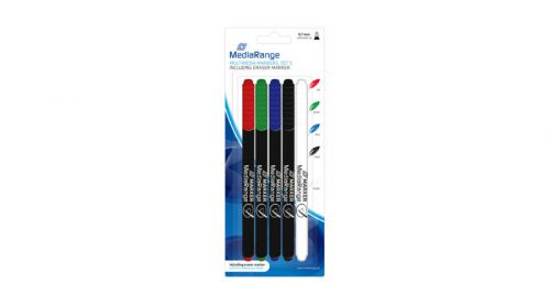 MediaRange Multimedia Markers with Eraser Markers (Assorted Colours) Pack of 5