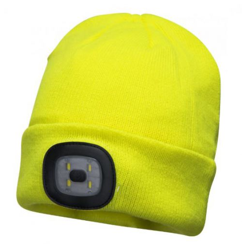 Rechargeable LED Beanie Yellow Pack 144