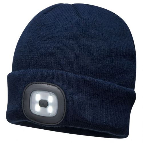 Rechargeable LED Beanie Navy Pack 144