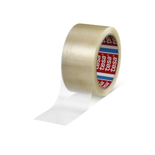 tesa 66m x 50mm PPPackaging Tape with Strong Adhesive Power Clear Pack 36