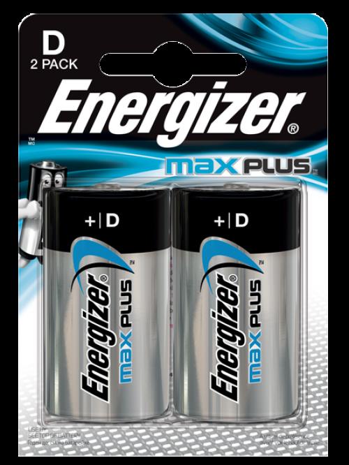 Energizer Max Plus D PK2