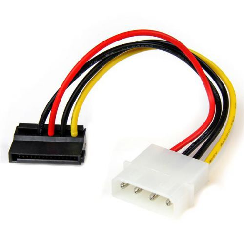 StarTech 6in 4 Pin to Left Angle SATA Power Cable