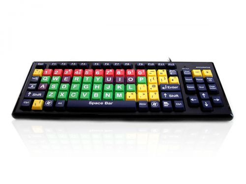 Accuratus Mixed Colour Uppercase Letters Keyboard