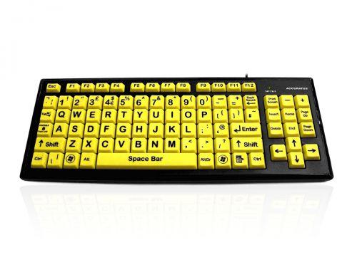 Accuratus Hi Vis Black with Yellow Keys Keyboard