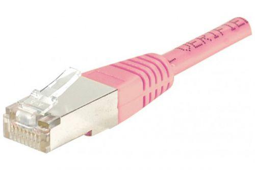 EXC RJ45 cat.5e F UTP Pink 5M