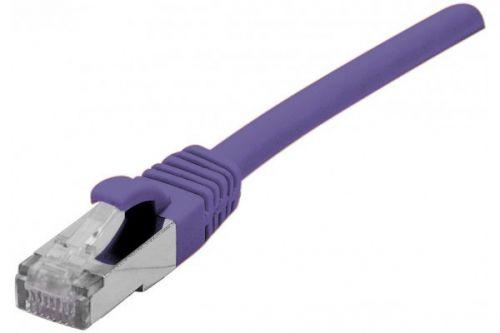 EXC RJ45 cat.6a F UTP LSZH Purple 0.15M