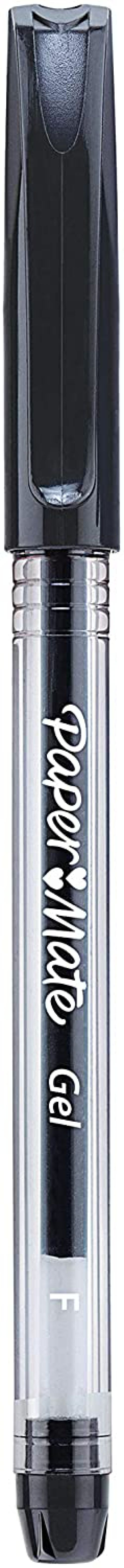 Paper Mate Gel Stick 0.5mm Pen Black PK12