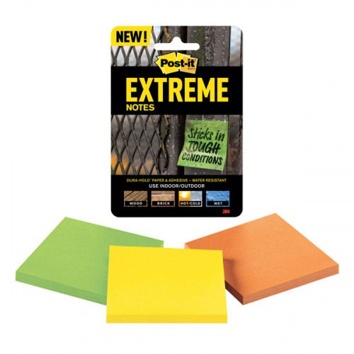 Post-it EXTREME Notes 76 x 76mm Assorted EXT33M-3-UKSP [Pack 3]