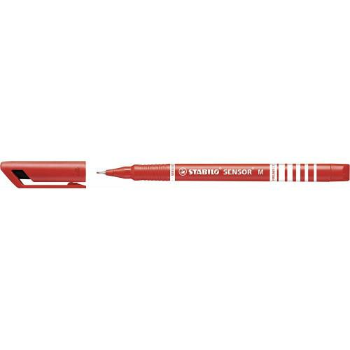 Stabilo Sensor Fineliner Medium Red PK10