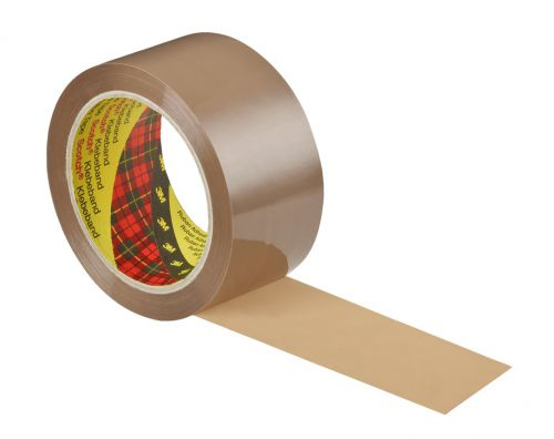 Scotch 309 Low Noise Buff Packaging Tape 48mmx66m PK6