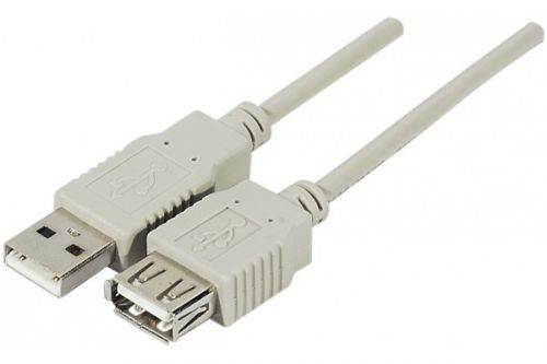 EXC USB 2.0 A.A M to F Grey Cable 3m