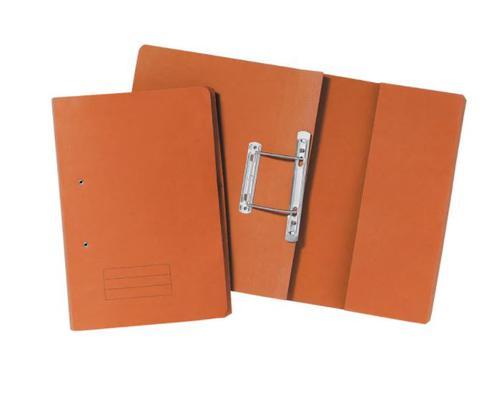 Guildhall Pocket Spring File Manilla Foolscap 285gsm Orange (Pack 25)