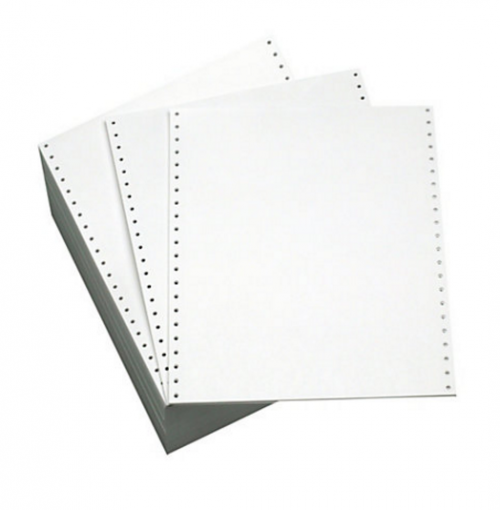 ValueX Listing Paper 11inx241mm 1 Part Plain Micro Perforated 70gsm White (Pack 2000)