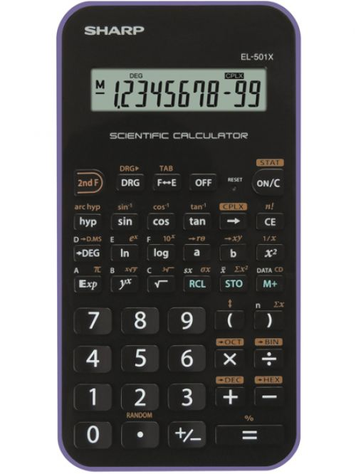 Sharp EL501XBVL Scientific Calculator Black/Purple
