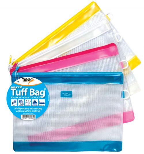 Clear Color Tiger Multi Punched Binder A4 Extra Capacity