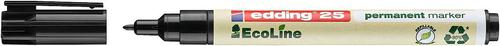 Edding 25 EcoLine Permanent Marker Bullet Tip 1mm Line Black (Pack 10)