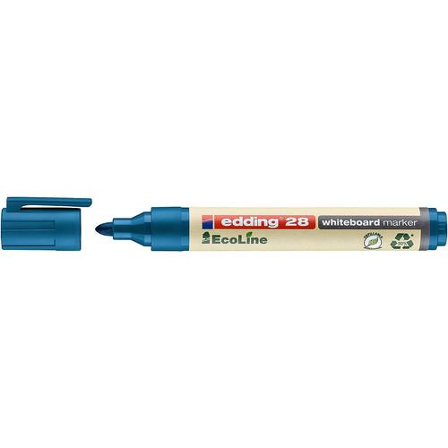 edding 28 EcoLine Whiteboard Bullet Tip Marker Blue PK10